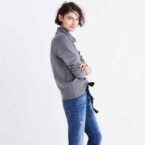 Madewell | Garment-dyed Funnel Neck Sweatshirt L